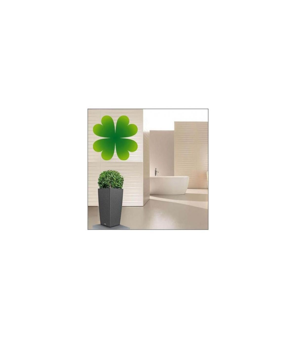 Sticker fleur verte