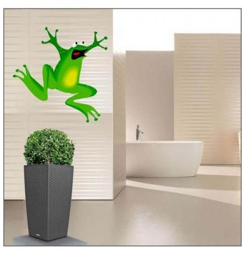 Sticker grenouille heureuse