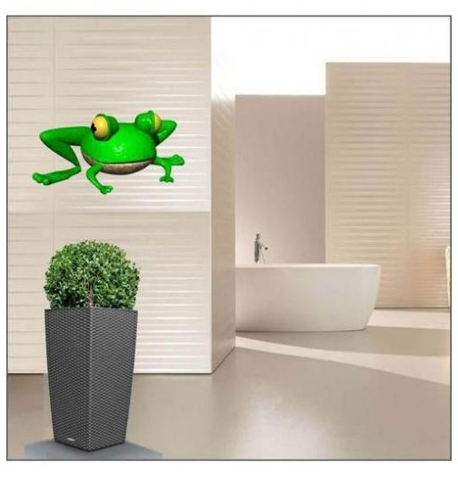 Sticker grenouille assise