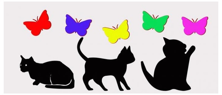 Sticker les chats