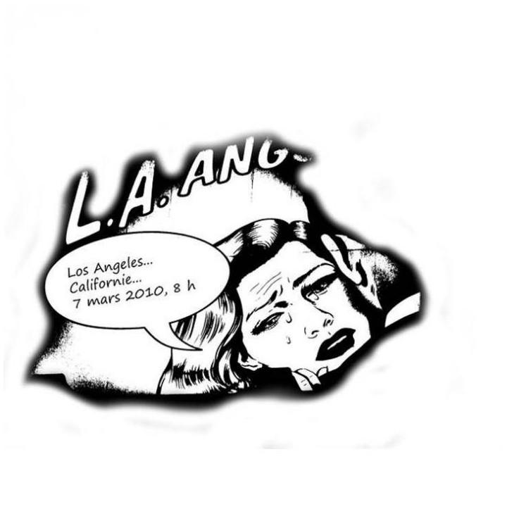 Sticker femme L.A.