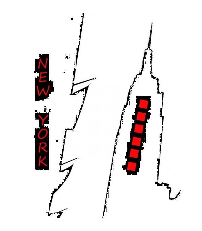 sticker empires states building