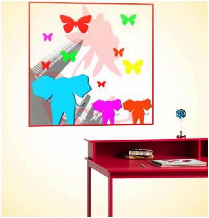 Sticker enfant elephants