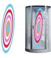 Sticker pour cabine de douche rond design