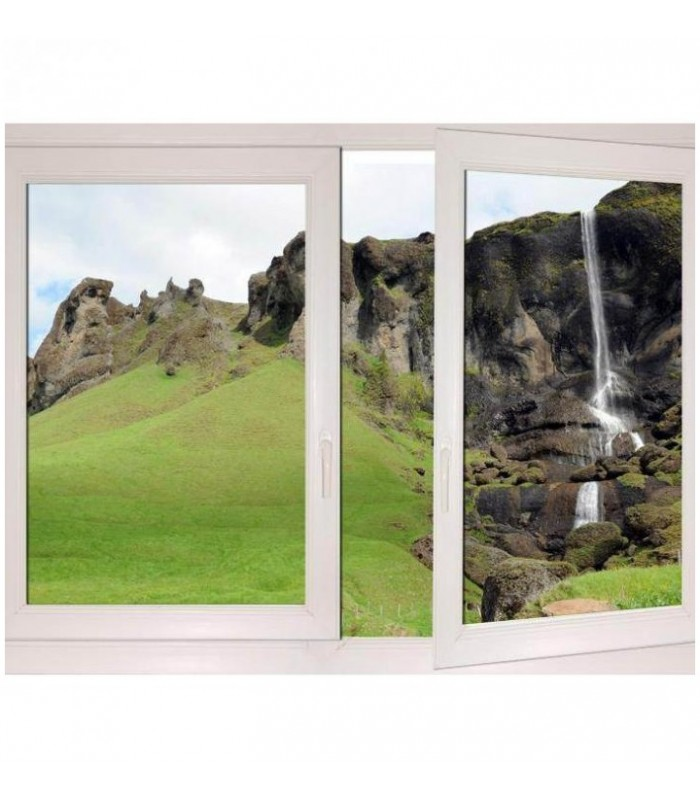 Trompe oeil paysage Islandais