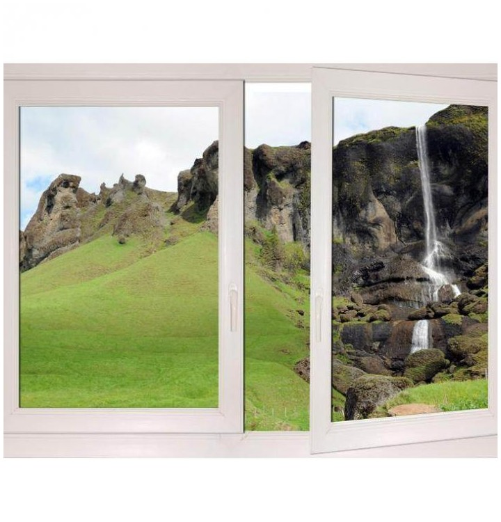 Fenetre trompe oeil de paysages d 39 islande decoration for Fenetre 60x90