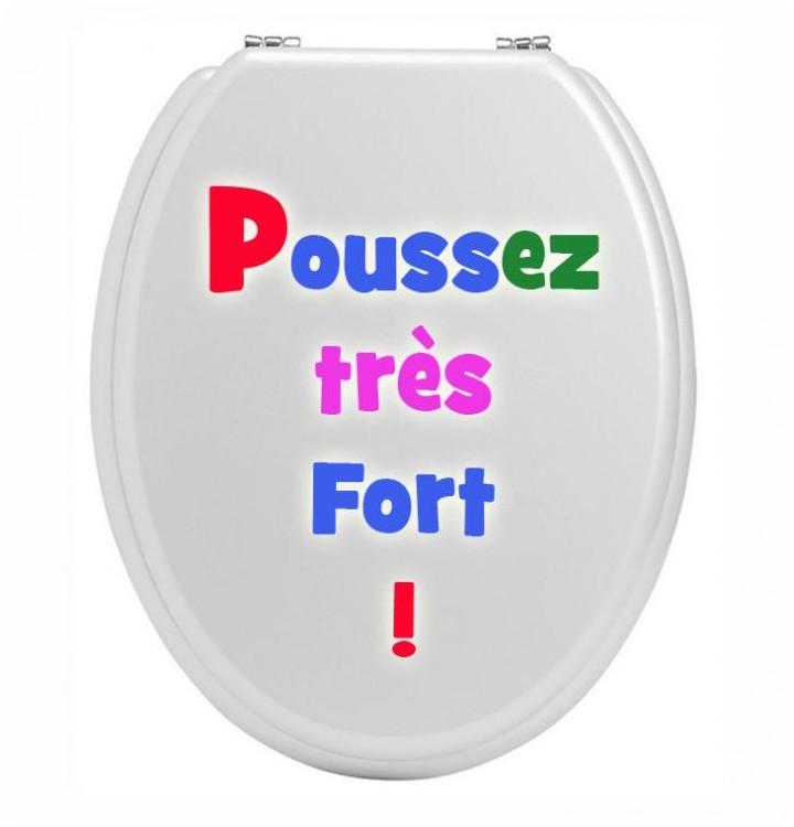 Sticker wc pour les toilettes poussez tres fort - Stickers resistants a l eau ...
