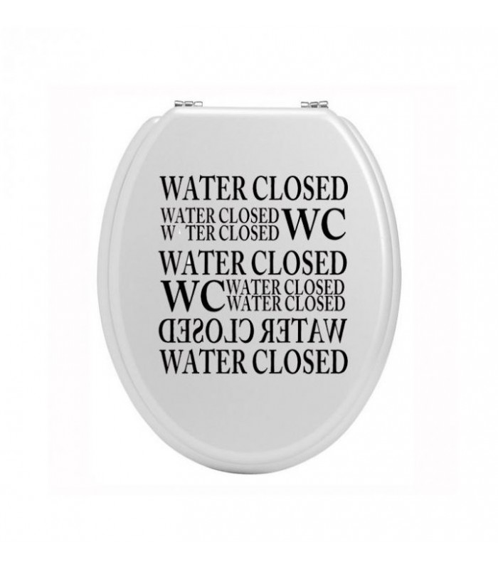 Stickers wc original sticker pour abattant de toilettes - Stickers abattant wc ...