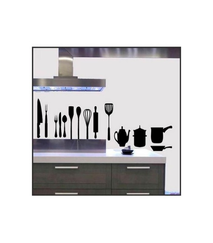 decorer la cuisine avec des stickers originaux sticker cuisine. Black Bedroom Furniture Sets. Home Design Ideas