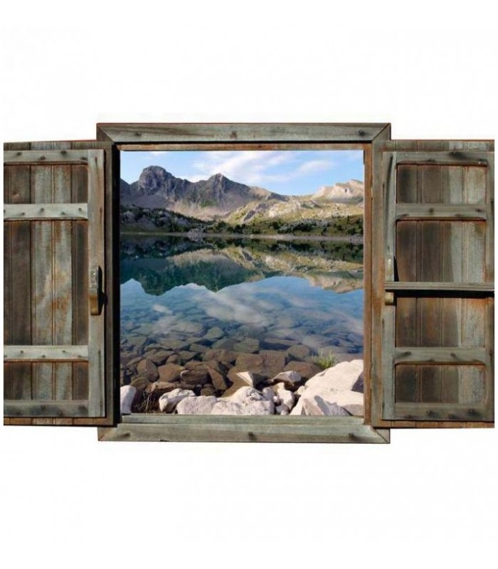 Lac Allos  trompe oeil paysage