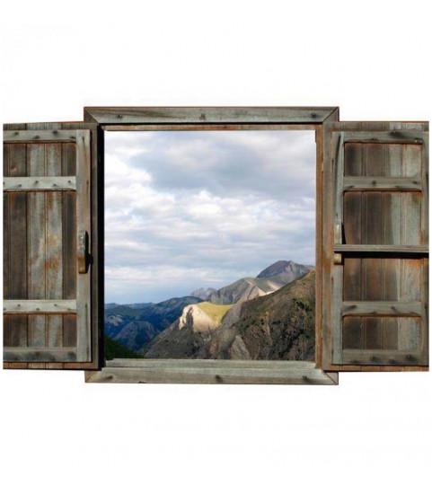 trompe l'oeil paysage de montagne