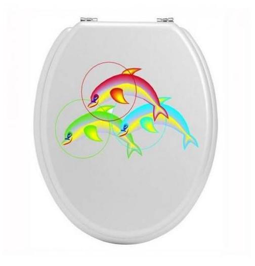 Sticker toilettes dauphin