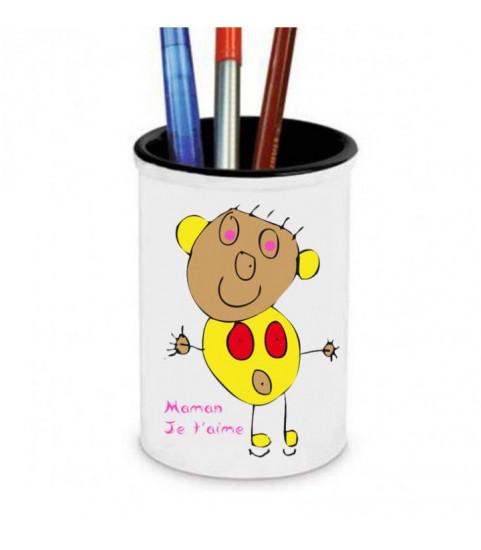pot à crayons personnalisé avec photo et texte