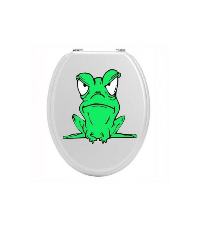 Sticker toilettes grenouille