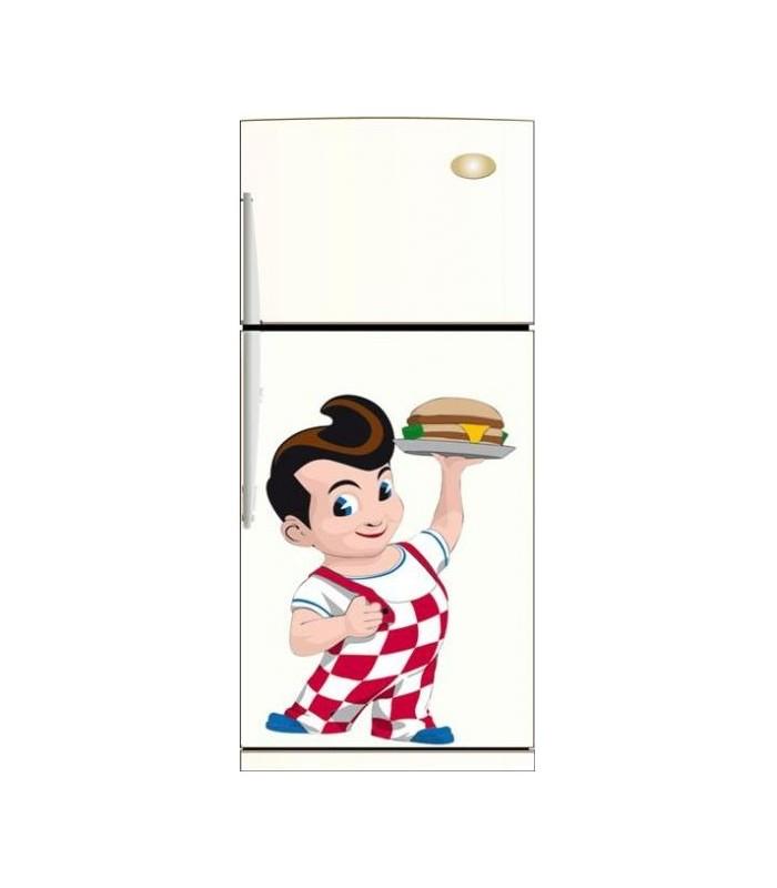 sticker cuisine facon annees 1960 decoration du frigo avec stickers. Black Bedroom Furniture Sets. Home Design Ideas