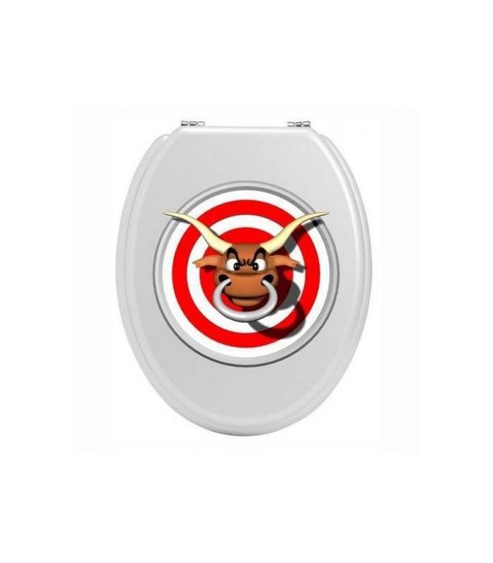 achat d 39 un taureau pas content pour un sticker wc. Black Bedroom Furniture Sets. Home Design Ideas