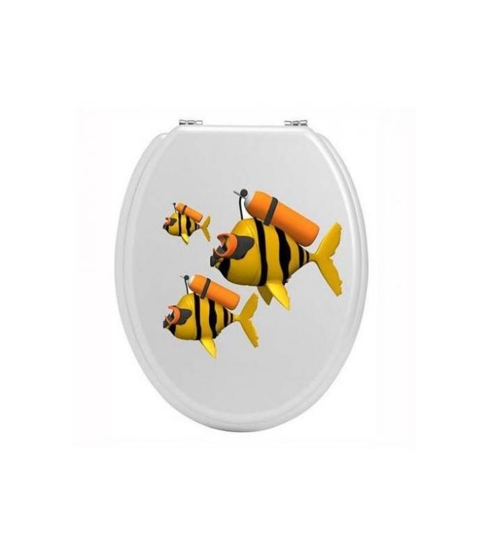 Sticker personnalisé, rigolo et décoratif pour abattant de wc