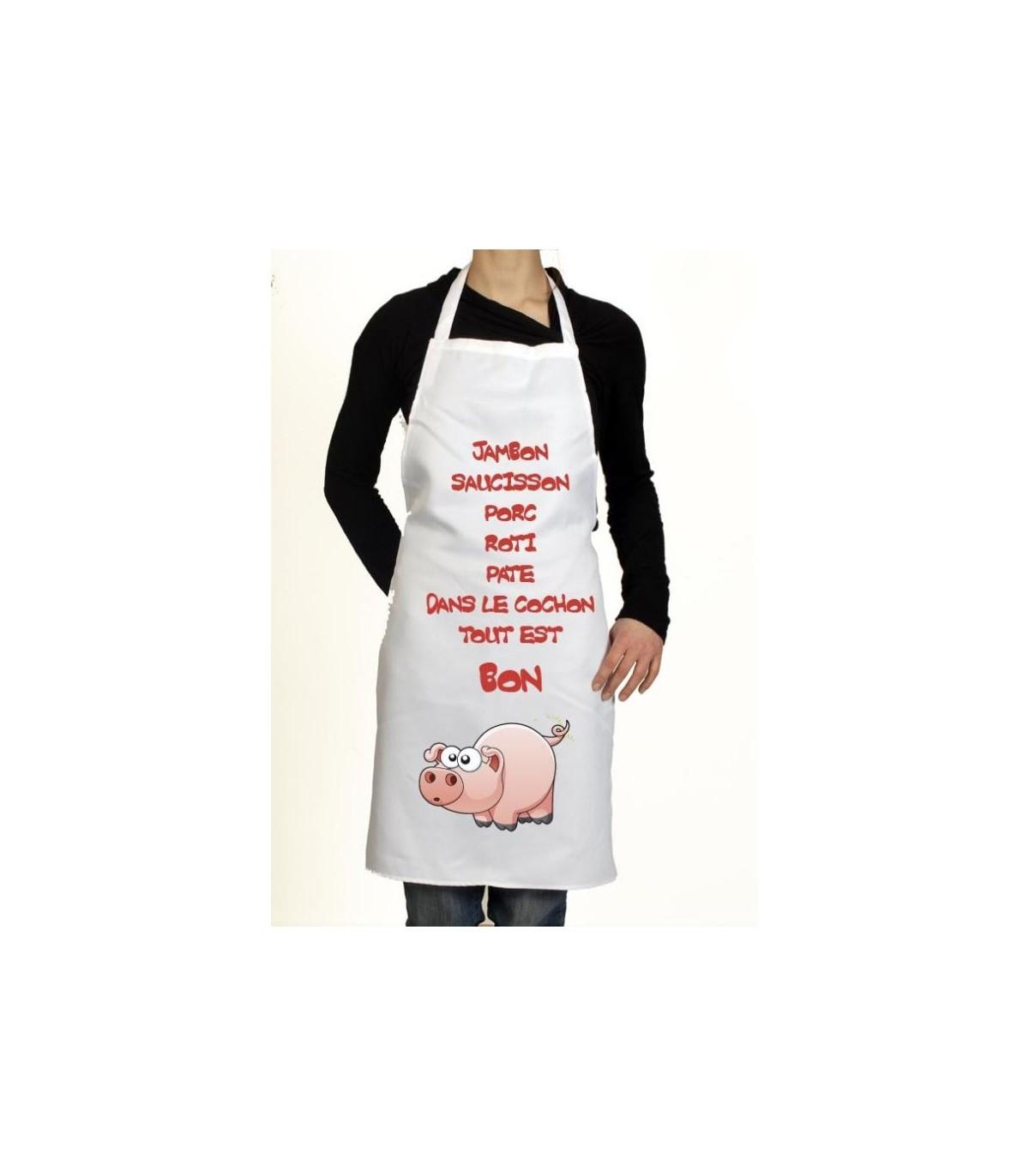 Le tablier de cuisine le cochon