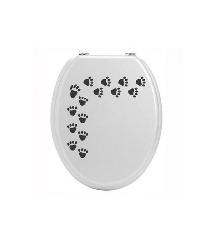 Sticker personnalisé et décoratif pour abattant de wc