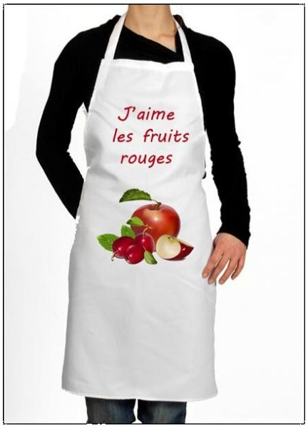 Tablier cuisine pour cuisinier aimant les fruits id e - Cadeau original cuisine ...