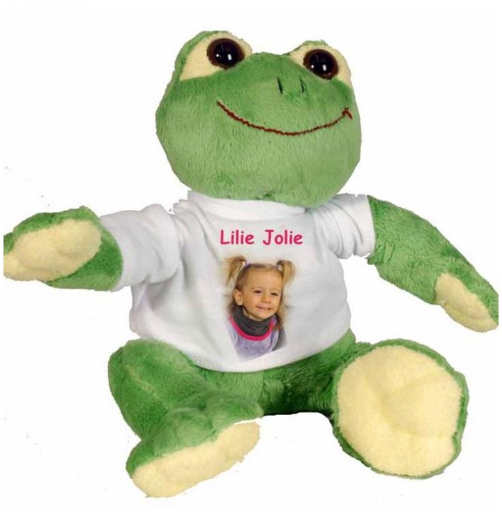 Grenouille peluche personnalisee