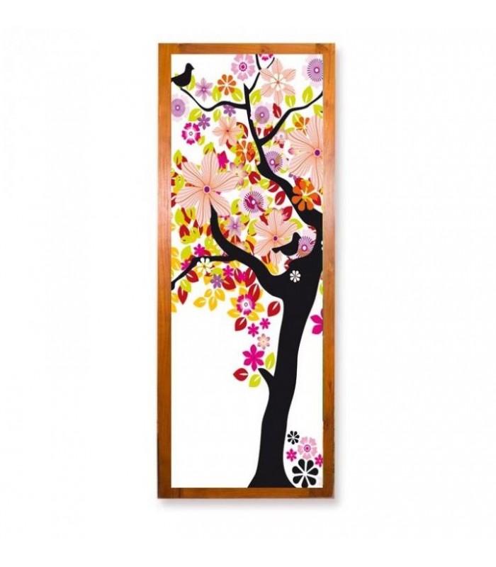 papier peint porte arbre