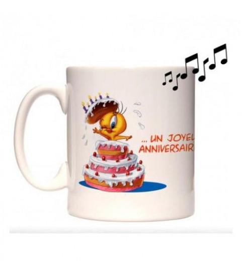 mug musical joyeux anniversaire