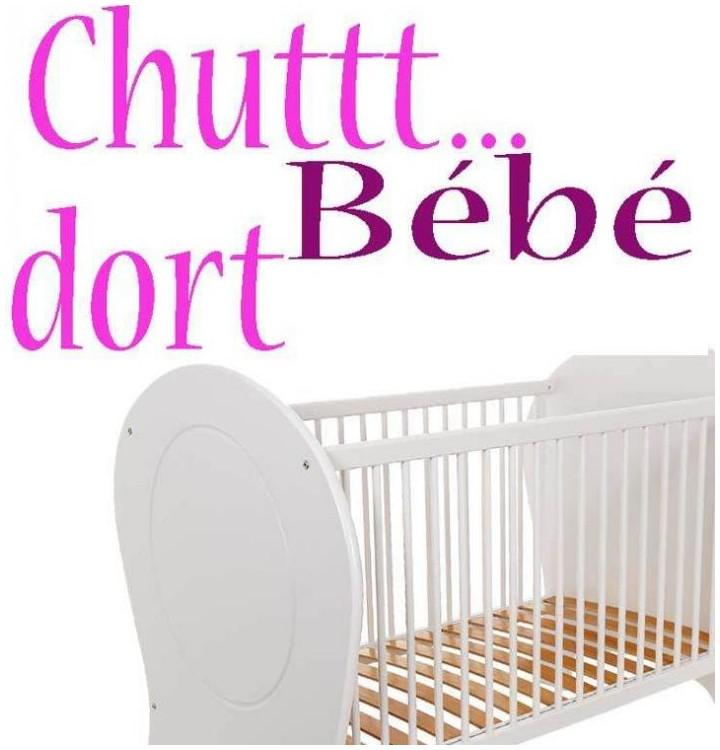 sticker pour la chambre de bebe sticker bebe dort autocollant pour decoration. Black Bedroom Furniture Sets. Home Design Ideas