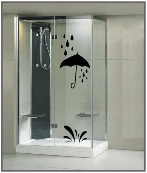 stickers pour la douche autocollants cabine de douche parapluie. Black Bedroom Furniture Sets. Home Design Ideas