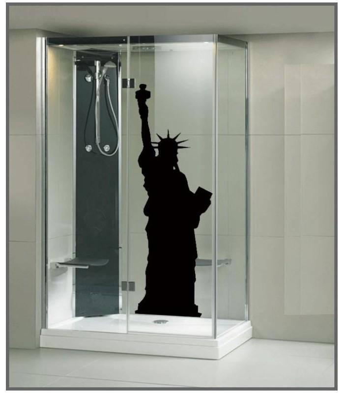Des stickers new york statue de la liberte a coller sur - Stickers pour paroi de douche ...