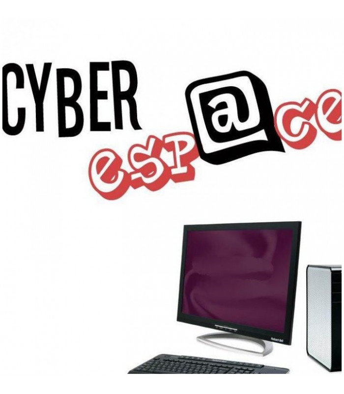 Sticker cyber espace