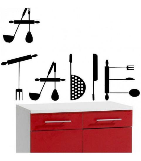 Sticker pas cher pour la cuisine, lettres a table