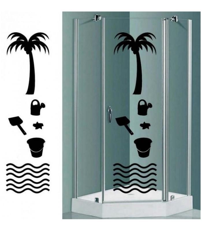 stickers pour cabine de douche ile
