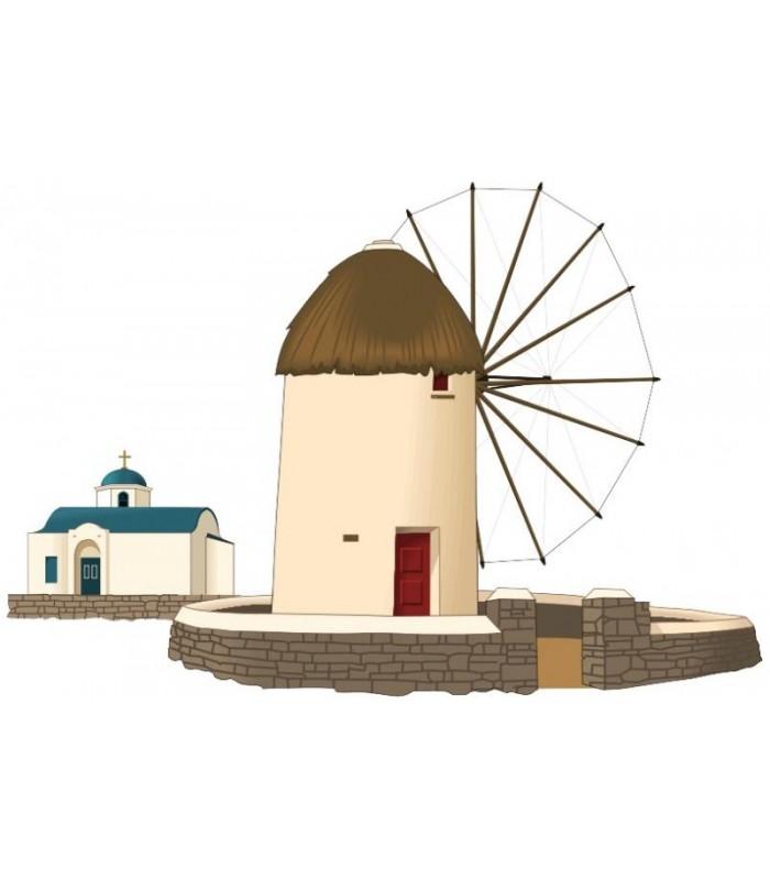 Sticker moulin grec