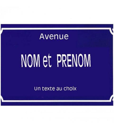 plaque nom de rue personnalisée