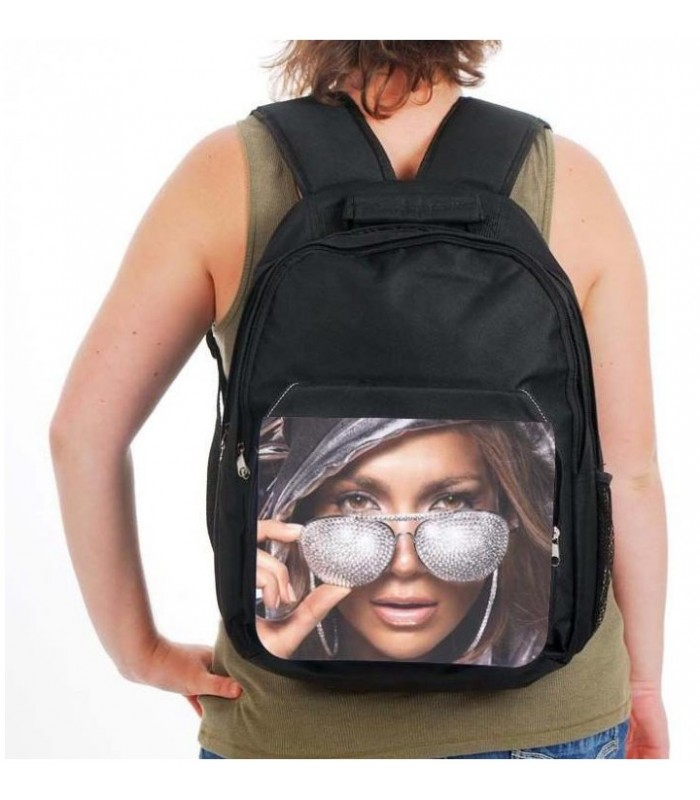 sac a dos noir avec photo