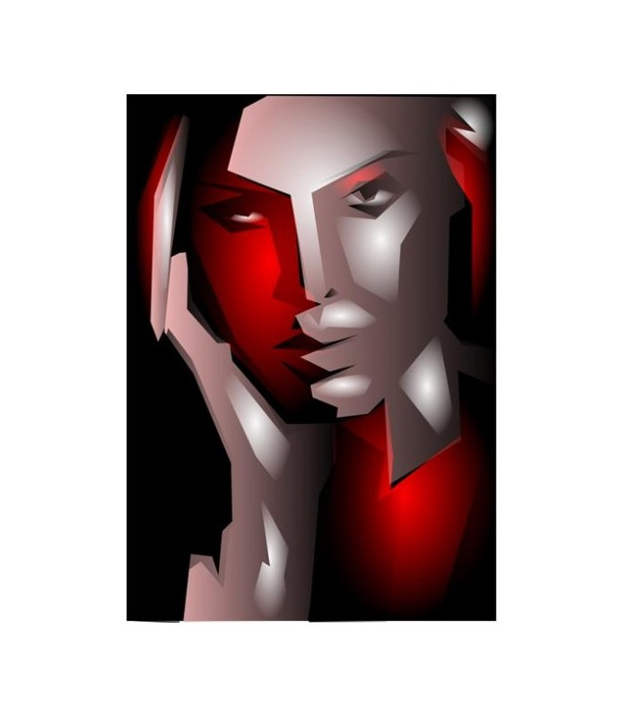 Sticker portrait femme