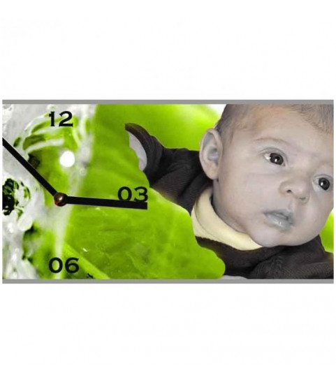 Horloge photo rectangulaire personnalisée