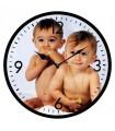 Horloge photo ronde verre