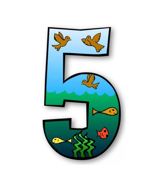 Sticker chiffre 5