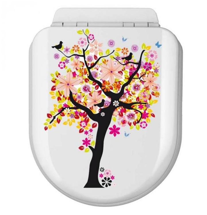 sticker pour abattant de toilettes stickers autocollant pour les toilettes. Black Bedroom Furniture Sets. Home Design Ideas