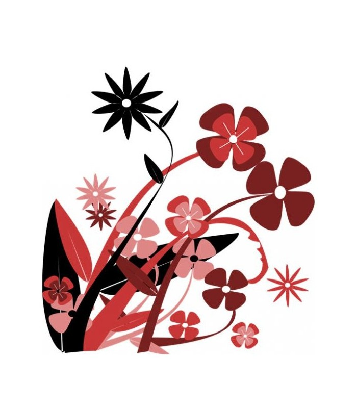 sticker fleurs mutiples