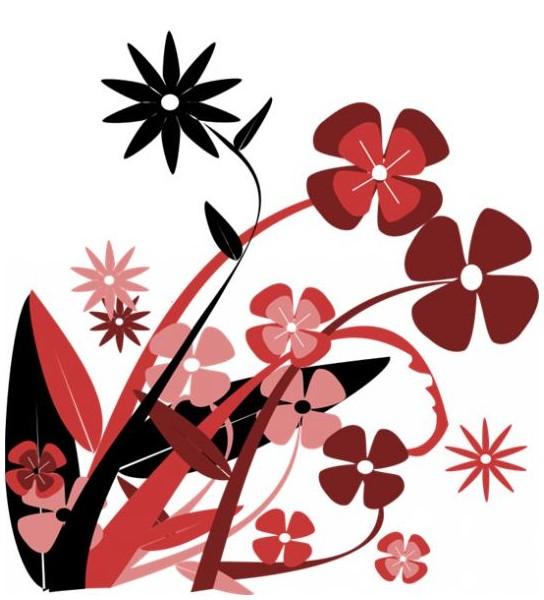 Sticker fleurs multiples