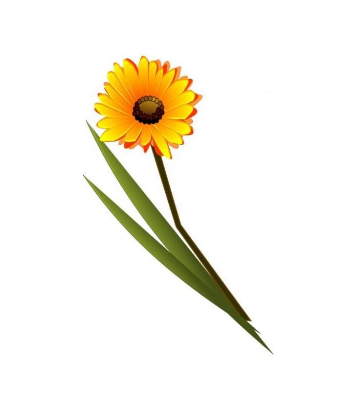 Sticker fleur jaune