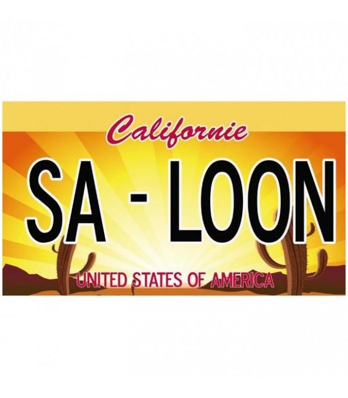 Plaque US Californie USA personnalisée