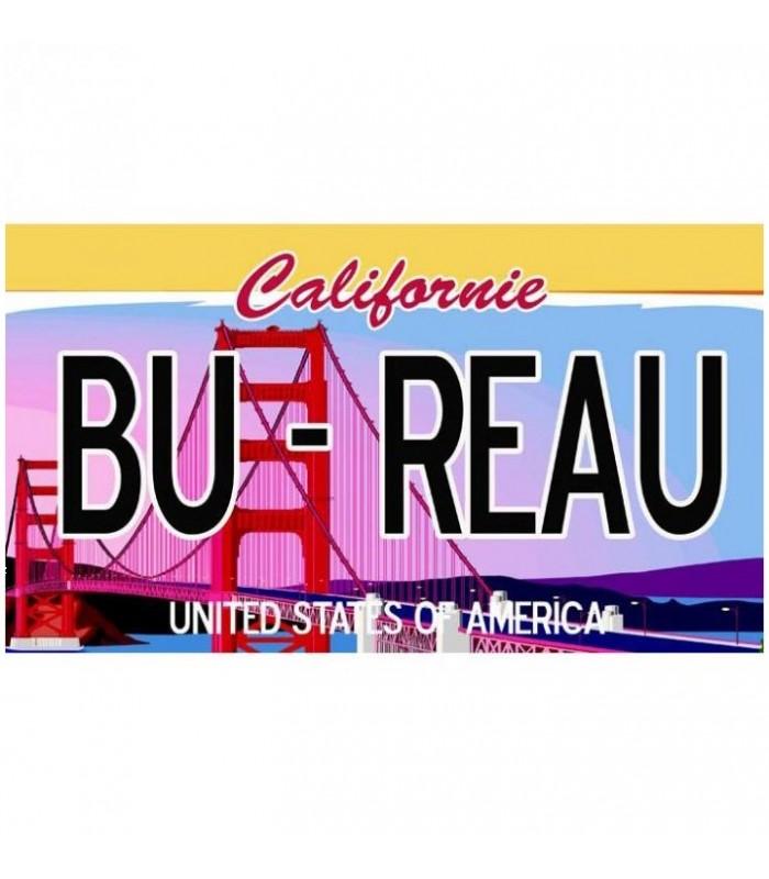 Plaque US San Francisco personnalisée