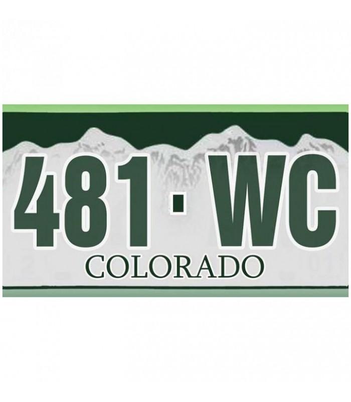 Plaque US Colorado personnalisée
