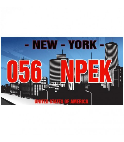 Plaque personnalisée USA, New York