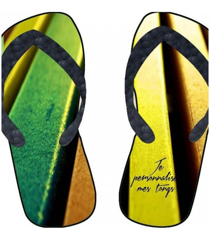 paire de tong pour femme personnalisée et colorée