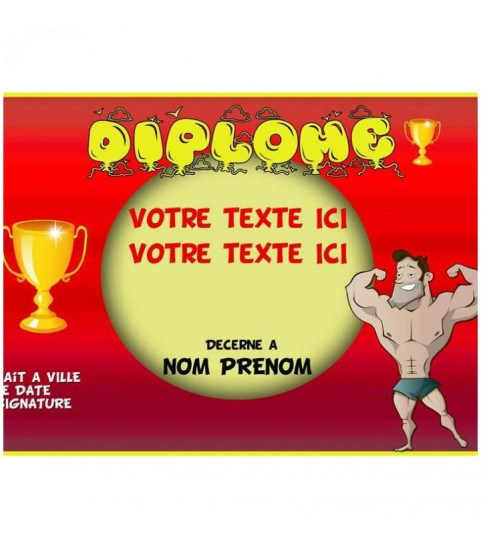 Diplome personnalise a offrir